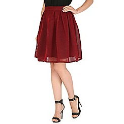 AS by Anna Smith - Red two tone mesh skirt