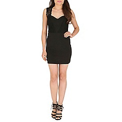 AS by Anna Smith - Black lace panel bodycon dress