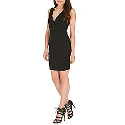 AS by Anna Smith - Black scallop bodycon dress