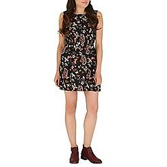 Mela - Black floral print dress