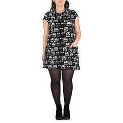 Samya - Grey owl print dress