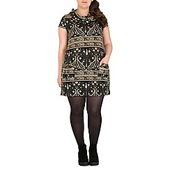 Samya - Black printed tunic top