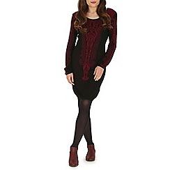 Mela - Dark red printed bodycon dress