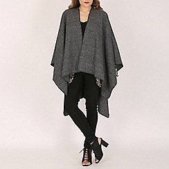Mela - Black chevron blanket cardigan