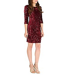 Amaya - Wine velvet dress with sequins