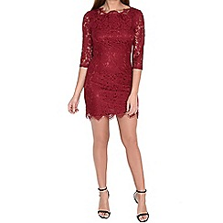Alice & You - Red scallop lace dress
