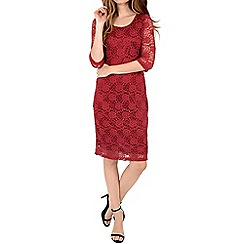 Alice & You - Red lace layer midi dress