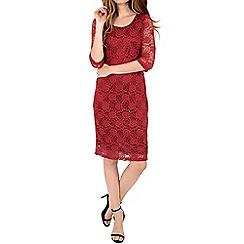 Alice & You - Red lace layer midi dress