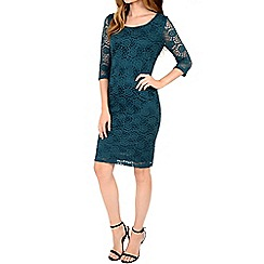 Alice & You - Turquoise lace layer midi dress