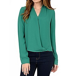 Alice & You - Turquoise wrap front blouse