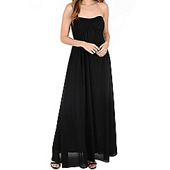 Alice & You - Black ruched bandeau maxi dress
