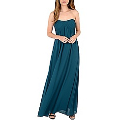 Alice & You - Turquoise ruched bandeau maxi dress