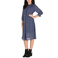 Cutie - Blue check shirt dress