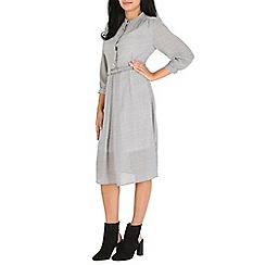 Cutie - White check shirt dress
