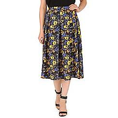 Cutie - Blue floral maxi skirt