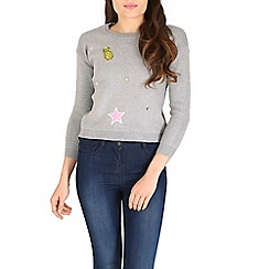 Cutie - Grey embellished jumper
