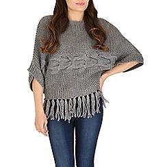 Cutie - Grey chunky knit jumper