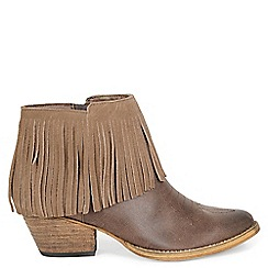 Alice & You - Brown fringed ankle boot