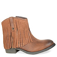 Alice & You - Tan fringed ankle boot