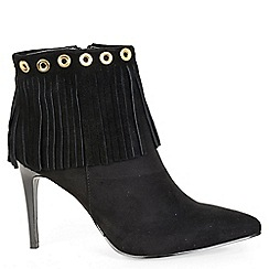 Alice & You - Black heeled fringe ankle boot