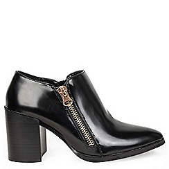 Alice & You - Black zip up heeled ankle boot