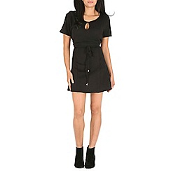 Pussycat London - Black open front dress