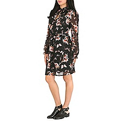 Pussycat London - Black floral shirt dress