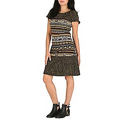 Pussycat London - Brown contrast print tunic