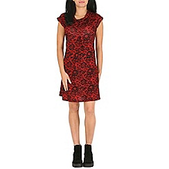 Pussycat London - Red lace print tunic