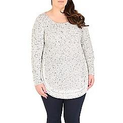 Samya - White knitted pullover