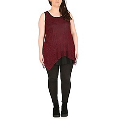 Samya - Dark red layered lace detail top