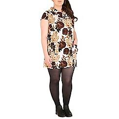 Samya - Brown floral print tunic top