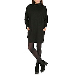 Amaya - Black cowl neck scuba dress