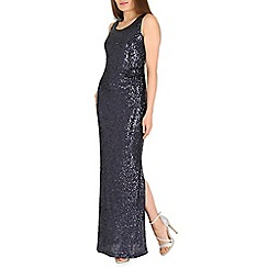 Amaya - Navy sequin maxi dress