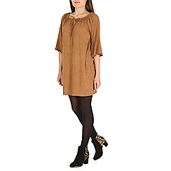 Amaya - Camel suede dress