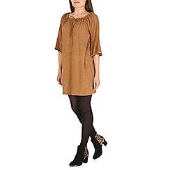 Amaya - Camel suede dress