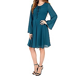 Alice & You - Turquoise lace up skater dress