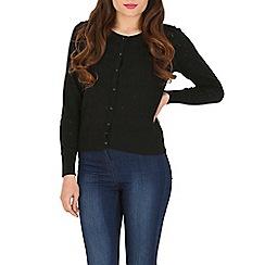 Cutie - Black pastel print cardigan