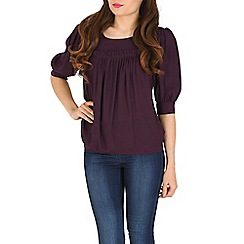 Cutie - Purple pleated blouse