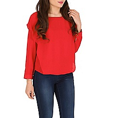 Cutie - Red flounce top