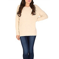 Tenki - Cream jumper with bead insert at front
