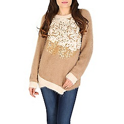 Tenki - Brown eyelash knit jumper