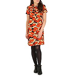 Tenki - Orange flower print tunic