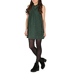 Tenki - Green bow insert jumper dress