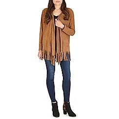 Amaya - Camel suede lightweight jacket
