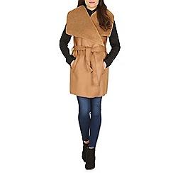 Amaya - Camel suede coat
