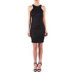Zibi London - Black jewel neck sleeveless dress