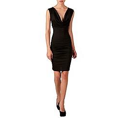 Zibi London - Black black jersey zip dress