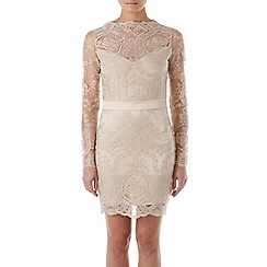 Zibi London - Gold lace bodycon dress