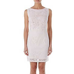 Zibi London - Light pink embroidered shift dress